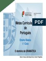Metas Curriculares Dominio Gramatica 40paginas