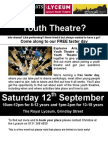 Flyer for Youth Theatres Taster Day- Sept 09