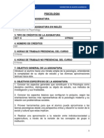 Psicologia 2013.Programa