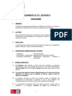15-01 PROCEDIMIENTO N° 015 - VACACIONES