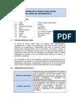 Programación Curricular Anual Matemática 1ro Sec 2014