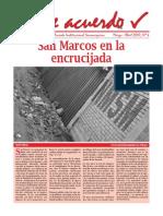 14a UNMSM Revista De acuerdo N° 04, Marzo, 2010