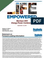 Barclays 2013 - Peabody Energy