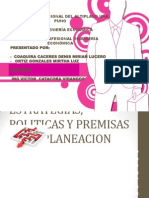 Estrategias, Politicas y Premisas de La Planeacion