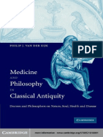 Medicine and Philosophy in Classical Antiquity_ Doctors and Philosophers on Nature, Soul, Health and Disease
