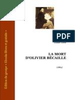 Zola Mort Olivier Becaille