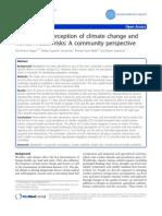 Persepsi Rumah Tangga Terhadap Perubahan Iklim Dan Resiko Kesehatan Manusia, Sebuah Perspektif Masyarakat