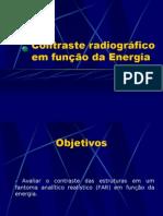 Lab. Radiodiagnóstico - I Física Médica - Unesp (2006) Contraste em função da energia