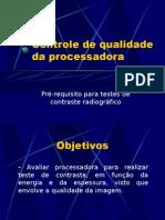 Lab. Radiodiagnóstico - I Física Médica - Unesp (2006) Controle de qualidade de processadora