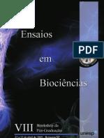 Ensaios em Biociências - VIII Workshop da Pós-graduação - Instuto de Biociências - Unesp