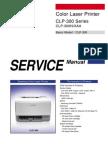 Samsung CLP 300 Series Service Manual