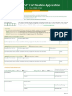 PMI-SP Certification Application
