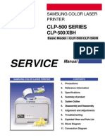 Samsung CLP 500 Series Service Manual