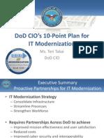 CIO 10 Point Plan for IT Modernization