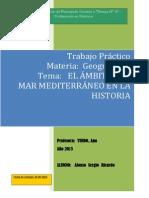 EL MAR MEDITERRÁNEO EN LA HISTORIA 2013