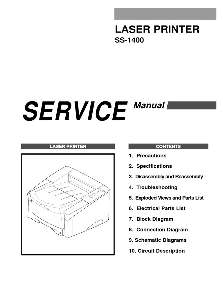 Samsung Ss 1400 Service Manual Troubleshooting Manufactured Goods Laser Schematic Diagram