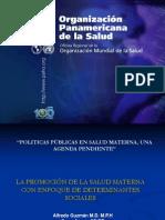 lapromocindelasaludmaternaconenfoquededeterminantessociales-111024091257-phpapp01