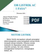 Motor Listrik Ac 1 Fasa ( Ttl )