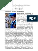 """""""A la Memoria del Presidente-Rey Sidónio Pais"""" por Fernando Pessoa. Introducción y Traducción de Nicolás González Varela"""