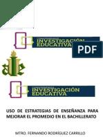 ponencia uso de estrategias de enseñanza para mejorar el promedio en el bachillerato
