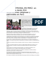 FIESTA PATRONAL EN PERÚ