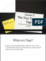 Unit I - Lesson 3 - Two Types of Tags