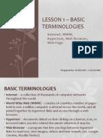 Unit I - Lesson 1 to 2 Basic Terminologies