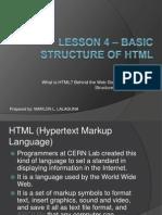 Unit I - Lesson 4 - Basic Structure of HTML