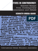 Kenneth Broda-Bahm Perspectives in Controversy Selected Essays From Contemporary Argumentation