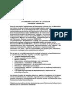 PATRIMONIO CULTURAL DE LA NACIÓ1