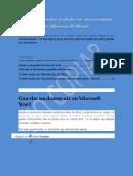 Como Guardar y abrir un documento de Microsoft Word..docx
