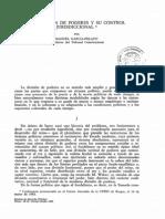 GARCIA-PELAYO, Manuel. La Division de Poderes y Su Control Jurisdiccional.