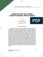 HÄBERLE, Peter. Aspectos de una teoría constitucional para Europa.