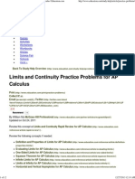 Limits and Continuity Practice Problems for AP Calculus _ Education