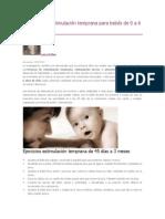 Ejercicios de estimulación temprana para bebés de 0 a 6 meses