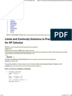 Limits and Continuity Solutions to Practice Problems for AP Calculus _ Education