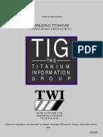 Titanium Welding TWI