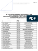 Pharmacist 01-2014 Room Assignment