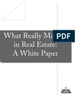 Really Matters in Real Estate - A White Paper