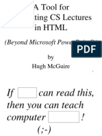 A Tool forFormatting CS Lecturesin HTMLter