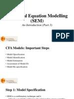 Structural Equation Modelling (SEM) Part 3 of 3