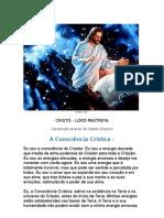 A consciência crística - CRISTO - LORD MAITREYA