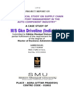 An Empirical Study on Supply Chain Inventory Management in the Auto Component Industry