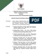 KMK No. 544 Ttg Registrasi Dan Izin Kerja Refraksionis Optisien