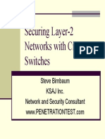 Layer-3 Security on Layer-2 Cisco Switches