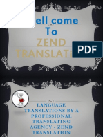 Language Translations by a Professional Translating Agency - Zend Translation