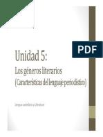 U5. Los géneros literarios (LENGUAJE PERIODÍSTICO)