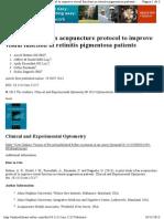 Retinitis Pigmentosa Acupuncture