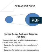 Design of Flat Belt Drive