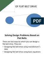 Design of Flat Belt Drive